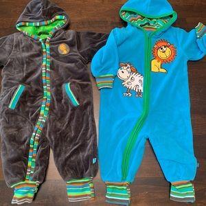 Super Warm Zip-up bodysuits